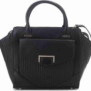 NWOT Nine West Large Black Leather Handbag